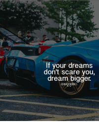 Memes, Scare, and What Is: If vour dreams  don't scare you,  dream bigger.  @SUCCESSES What is your number one dream ? successes