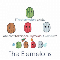 The Elemelons https://t.co/E7pwxqDsWK: If Watermelon exists,  Why don't Earthmelon, Firemelon, & Airmelon?  The Elemelons The Elemelons https://t.co/E7pwxqDsWK