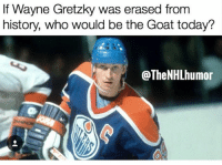 Memes, Goat, and History: If Wayne Gretzky was erased from  history, who would be the Goat today?  @TheNHLhumon Comment?!!