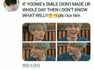 Smile, Bts, and Him: IF YOONIE's SMILE DIDN't MADE UR  WHOLE DAY THEN I DON'T KNOW  pls i luv him  WHAT WILL!!  방탄소년단 #bts #suga