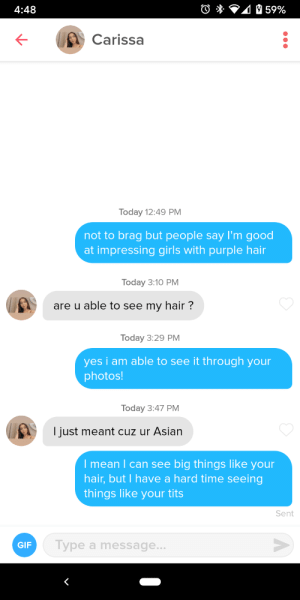 If you're going to be racist on Tinder, at least put some effort in your jokes!: If you're going to be racist on Tinder, at least put some effort in your jokes!