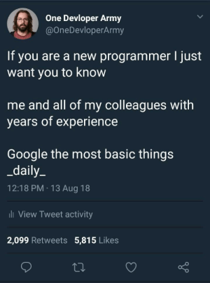 If you are a new programmer: If you are a new programmer