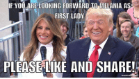 This is after she made her RNC speech: IF YOU ARE LOOKING FORWARD TO MELANIA AS  FIRST LADY  PLEASE LIKE AND SHARE! This is after she made her RNC speech