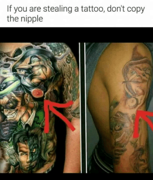 Wtf: If you are stealing a tattoo, don't copy  the nipple Wtf