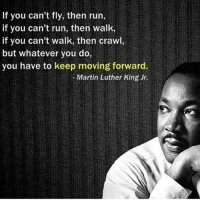 This is my absolute favorite MLK quote, if any body cares lol. Happy MLK day -Noelle: If you can't fly, then run,  if you can't run, then walk,  if you can't walk, then crawl,  but whatever you do,  you have to keep moving forward.  Martin Luther King Jr. This is my absolute favorite MLK quote, if any body cares lol. Happy MLK day -Noelle
