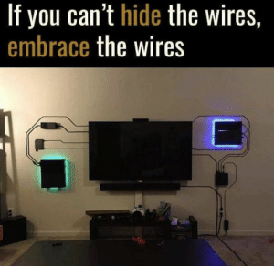 Love, Video Games, and Hide: If you can't hide the wires,  embrace the wires Love this https://t.co/NRRValkWga