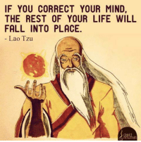 Memes, 🤖, and Laos: IF YOU CORRECT YOUR MIND,  THE REST OF YOUR LIFE WILL  FALL INTO PLACE.  Lao Tzu