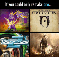 ?: If you could only remake one.  The elder Scrolls IV  OBLIVION ?
