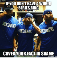 Shame Meme: IF YOU DONTHAVEA WORLD  SERIES RING  COVER YOUR FACE IN SHAME  MEMEFUL COI