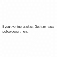 Lol, Memes, and Police: If you ever feel useless, Gotham has a  police department. Lol
