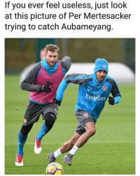 No chance 👍😂 CatchMeIfYouCan Buddies Useless NoChance Race: If you ever feel useless, just look  at this picture of Per Mertesacker  trying to catch Aubameyang.  tes No chance 👍😂 CatchMeIfYouCan Buddies Useless NoChance Race
