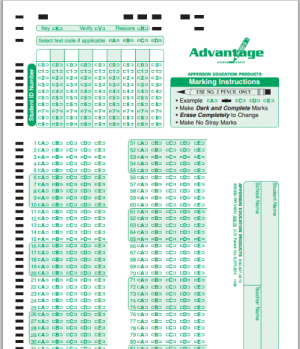 If you ever feel useless, just think of the green side of a Scantron: If you ever feel useless, just think of the green side of a Scantron