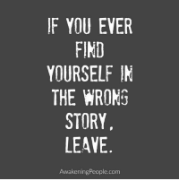 Memes, Awakenings, and 🤖: IF YOU EVER  FIND  YOURSELF IN  THE WRONG  STORY  LEAVE  Awakening People.com