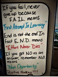 Just wow 😍 https://t.co/6ETKsNnwaj: If you fail,never  ave up becau se  FA.IL. means  First Atromp Ia Leaorning  End is not he end.Th  fact E.N.D. means  EFfort Never Dies  If you get NO as on  answer, remember NO  means  2  Noxt Opportunity  Positive thinking !! Just wow 😍 https://t.co/6ETKsNnwaj