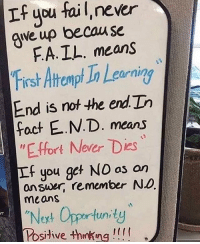 """Follow @motivation_mondays for the best quotes 💪: If you faiL, never  qve up becau se  FA.IL. means  First Atrempt Ta Lg  End is rnot the end Do  foct E.N.D. means  """"E.ffort Never Dies  f you get NO as an  eurnin  answer, remember ND  means  """"Noxt Opportunity  Posive +hnking!!! Follow @motivation_mondays for the best quotes 💪"""