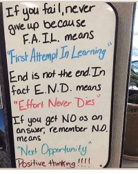 """Follow @motivation_mondays for the best quotes 💪: If you fail, never  qwe up becau se  FA. IL. means  Frsh Atrampt In Learning  End is not the end In  cornin  fact E.N.D. means  """"E.ffort Never Dies  If you get NO as an  answer, remember No  means  Noxt Opportunidy  Posihve thnking! Follow @motivation_mondays for the best quotes 💪"""
