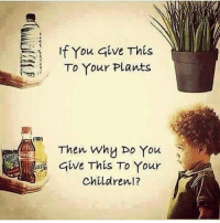 Don't do many health posts but the simplicity here is astounding and so true...from @successambassador: If You give This  To Your Plants  Then Why Do You  Give This To Your  children Don't do many health posts but the simplicity here is astounding and so true...from @successambassador