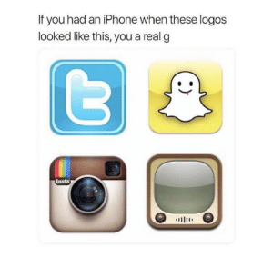 Who remembers this!! 😂📱 https://t.co/NKJLwafT8a: If you had an iPhone when these logos  looked like this, you a real g  Insta  川111' Who remembers this!! 😂📱 https://t.co/NKJLwafT8a