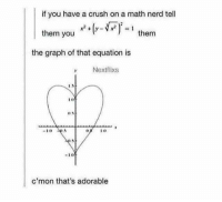 https://t.co/w4KnbXEGoW: if you have a crush on a math nerd tell  them you  them  the graph of that equation is  Nextflixs  -10  c'mon that's adorable https://t.co/w4KnbXEGoW