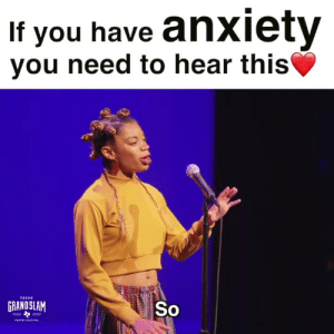 If you have anxiety or have ever dealt with anxiety in your life, you really need to listen to this poem by Jae Nichelle! She says everything I wish I could say but can't find the word for! Her poem is absolutely breathtaking!  😭🙌🏼💔  Video Courtesy of Write About Now: If you have anxiety  vou need to hear this  TEXAS  GRANDSLAM  So If you have anxiety or have ever dealt with anxiety in your life, you really need to listen to this poem by Jae Nichelle! She says everything I wish I could say but can't find the word for! Her poem is absolutely breathtaking!  😭🙌🏼💔  Video Courtesy of Write About Now