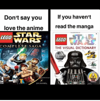 Anime, Lego, and Love: If you haven't  Don't say you  love the anime  read the manga  STARR  LEGO  WARS LEGO  COMPLETE SAGA  THE VISUAL DICTIONARY  LUCASARIS. That book was like the holy bible 😤💦💀