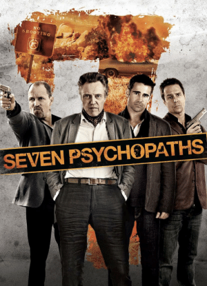 """If you look closely at the movie poster for """"Seven Psychopaths"""" (2012), you'll see that there are, in fact, only 4 psychopaths.: If you look closely at the movie poster for """"Seven Psychopaths"""" (2012), you'll see that there are, in fact, only 4 psychopaths."""
