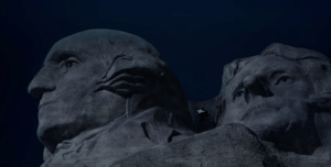 American, Images, and Presidents: If you look closely throughout North by Northwest's climactic sequence atop the cliff, you can spot several places where English director Alfred Hitchcock placed subliminal images of four American Presidents. To this day, his motives remain a mystery
