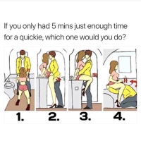 Time, Dank Memes, and One: If you only had 5 mins just enough time  for a quickie, which one would you do? I'm Jus Here For The Comments.