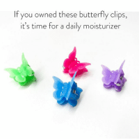 Af, Butterfly, and Link: If you owned these butterfly clips,  it's time for a daily moisturizer These clips went perfectly with my young AF looking skin. Check out @lovephilosophy's new moisturizer from the link in the bio. simplenotbasic philosophypartner