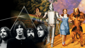 """If you sync up The Wizard Of Oz with Dark Side Of The Moon, the Pink Floyd lyrics """"I'll see you on the dark side of the moon"""" play at the same time as the album """"Dark Side Of The Moon"""": If you sync up The Wizard Of Oz with Dark Side Of The Moon, the Pink Floyd lyrics """"I'll see you on the dark side of the moon"""" play at the same time as the album """"Dark Side Of The Moon"""""""