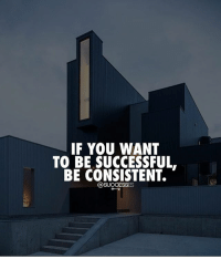 Memes, Game, and Game Changer: IF YOU WANT  TO BE SUCCESSFUL  BE CONSISTENT. This will be a game changer. successes
