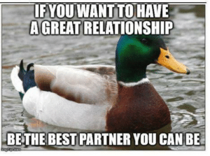 advice-animal:  Simple but shockingly effective: IF YOU WANT TO HAVE  A GREAT RELATIONSHIP  BETHE BEST PARTNER YOU CAN BE  imgilp.com advice-animal:  Simple but shockingly effective