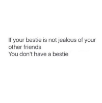 Friends, Jealous, and Girl Memes: If your bestie is not jealous of your  other friends  You don't have a bestie Tag ur bff!