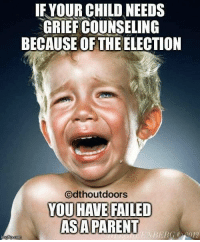 TRUTH!: IF YOUR CHILD NEEDS  GRIEFCOUNSELING  BECAUSE OF THE ELECTION  Odthoutdoors  YOU HAVE FAILED  AS A PARENT  CH2012 TRUTH!