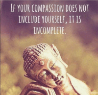 Memes, Compassion, and 🤖: IF YOUR COMPASSION DOES NOT  INCLUDE YOURSELF, IT IS  INCOMPLETE