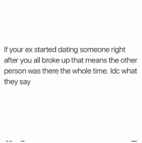 What to do when ex starts dating someone else