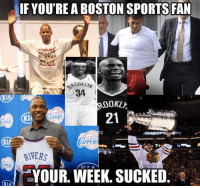 New York Knicks, Memes, and New York: IF YOU'RE A BOSTON SPORTS FAN  34  00  /HERS  KIN  UPPERS  RIVERS  YOUR. WEEK. SUCKED  KIM Sorry, Boston! LIKE New York Knicks Memes for MORE! -Tommy   Eric TD