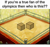 who is this: If you're a true fan of the  olympics then who is this??