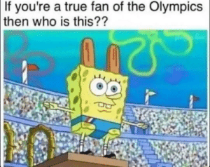 Don't tell me you like the olympics if you don't know this athlete: If you're a true fan of the Olympics  then  who is this?? Don't tell me you like the olympics if you don't know this athlete