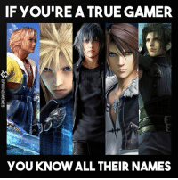 True, Video Games, and Game: IF YOU'RE A TRUE GAMER  YOU KNOW ALL THEIR NAMES  《 GAMING MEMES Name them