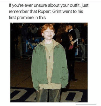 @_theblessedone is funny as shit. An absolute must follow!: If you're ever unsure about your outfit, just  remember that Rupert Grint went to his  first premiere in this @_theblessedone is funny as shit. An absolute must follow!