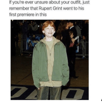 💀 via /r/funny https://ift.tt/2zHCosE: If you're ever unsure about your outfit, just  remember that Rupert Grint went to his  first premiere in this 💀 via /r/funny https://ift.tt/2zHCosE