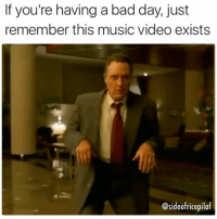 """15 years ago, Fatboy Slim released the music video for """"Weapon of Choice,"""" featuring the expressive dance moves of Christopher Walken. MAKE MUSIC VIDEOS GREAT AGAIN (follow me at @sideofricepilaf): If you're having a bad day, just  remember this music video exists  @sideofricepilaf 15 years ago, Fatboy Slim released the music video for """"Weapon of Choice,"""" featuring the expressive dance moves of Christopher Walken. MAKE MUSIC VIDEOS GREAT AGAIN (follow me at @sideofricepilaf)"""