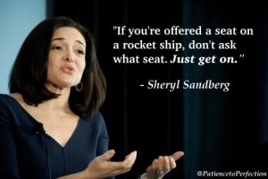 "great-quotes:  ""If you're offered a seat on a rocket ship…"" - Sheryl Sandberg [OC] [721 x 1083]MORE COOL QUOTES!: ""If you're offered a seat on  a rocket ship, don't ask  what seat. Just get on.""  Sheryl Sandberg  @PatiencetoPerfection great-quotes:  ""If you're offered a seat on a rocket ship…"" - Sheryl Sandberg [OC] [721 x 1083]MORE COOL QUOTES!"