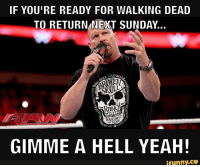 Gimme a Hell Yeah! #TWD #TWDFamily #TheWalkingDead #TWDSeason7: IF YOU'RE READY FOR WALKING DEAD  TO RETURN NEXT SUNDAY.  COLD  MINT  GIMME A HELL YEAH!  ifunny.CO Gimme a Hell Yeah! #TWD #TWDFamily #TheWalkingDead #TWDSeason7