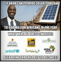 ☕️🐸 rp @thefreethoughtproject 4biddenknowledge: IFAKON CAN PROVIDE SOLAR POWER  TO 600 MILLION AFRICANS IN ONE EAR  WHAT HAVEALL THESE CHARITIES  www.TheFreeThoughlProlod.com  HAPPY AFRICA  elson Mandcla  CHILDRENS FUND  TOUCH  AFRICA  giving  unicef@ Sentebale尹garAgay ☕️🐸 rp @thefreethoughtproject 4biddenknowledge