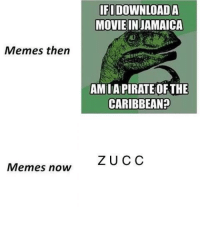 "Memes, Pirate, and Change: IFI DOWNLOADA  MOVIEINJAMAICA  4)  Memes then  AM IA PIRATE OFTHE  CARIBBEAN?  ZU CC  Memes now <p>A simple premise that can change with the times. Not huge growth but well received via /r/MemeEconomy <a href=""https://ift.tt/2IQBNXV"">https://ift.tt/2IQBNXV</a></p>"