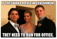 Via Rude and Rotten Republicans: IFTHEY WANTA ROLE IN GOVERNMENT  BIR and  otten Republicans  THEY NEED TO RUN FOR OFFICE. Via Rude and Rotten Republicans