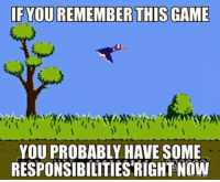 Tumblr, Blog, and Game: IFYOU REMEMBER  THIS GAME  YOU PROBABLY HAVE SOME  RESPONSIBILITIES RİGHTN0W epicjohndoe:  If Your Remember It