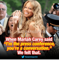 """had m&m shookt 👊🏼 . @mariahcarey . mariahcarey boss songwriter legend superstar queenofmusic beautiful mc michaeljackson arianagrande nickiminaj songbird whitneyhouston thevoice diva queen greatestofalltime butterfly icon: IG  AHPHI  When Mariah Carey said  """"Pm the press conference,  you're a conversation.  We felt that.  @papermagazine had m&m shookt 👊🏼 . @mariahcarey . mariahcarey boss songwriter legend superstar queenofmusic beautiful mc michaeljackson arianagrande nickiminaj songbird whitneyhouston thevoice diva queen greatestofalltime butterfly icon"""